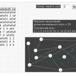 Иллюстрация №2: Моделирование решения задачи минимизации пути (Delphi) (Отчеты, Решение задач - Программирование).
