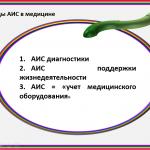 Иллюстрация №5: Анимированная презентация. Автоматизированные информационные системы (АИС) в медицине (Презентации - Информатика).